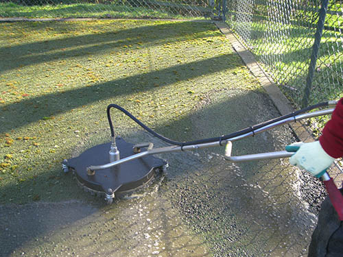 Tennis court cleaning and restoration