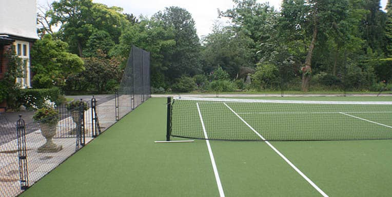 A synthetic grass (sometimes wrongly known as Astroturf or fake grass) built by En Tout Cas.